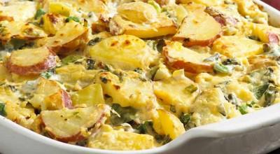 Side Delights™ Gourmet Petite Potatoes Spinach and Artichoke Heart Two Potato Casserole